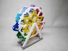 3D Ferris Wheel perler beads