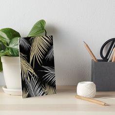 """Gold Gray Palm Leaves Dream #1 #tropical #decor #art"" Art Boards by anitabellajantz | Redbubble"
