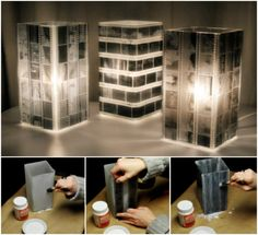 Family Photo Luminaries - wow from the negatives and they only give your pictures on CD now.