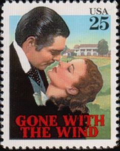"""GONE WITH THE WIND"" CLARK GABLE as RHETT BUTLER and VIVIEN LEIGH as SCARLETT O'HARA"