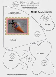 Doce Arte by Pati Guerrato: Moldes Foam Crafts, Diy And Crafts, Crafts For Kids, Paper Crafts, Craft Tutorials, Craft Projects, Quiet Book Templates, Felt Patterns, Bee Theme