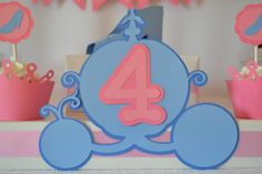 Cinderella Inspired Theme AGE CENTERPIECE by AllSetToParty on Etsy, $8.00