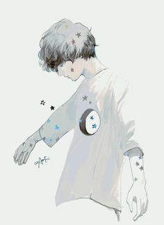 Uploaded by T H U. Find images and videos about boy, art and anime on We Heart It - the app to get lost in what you love. Art And Illustration, Character Illustration, Kunst Inspo, Art Inspo, Manga Art, Anime Art, Art Sketches, Art Drawings, Estilo Anime