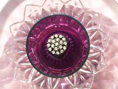 Amethyst Glass Federal Petal Plate Flower $35.00 from ARTful Salvage