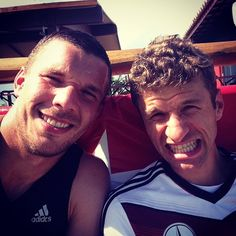 Thomas and me today in the training. Time for a quick shot #Germany