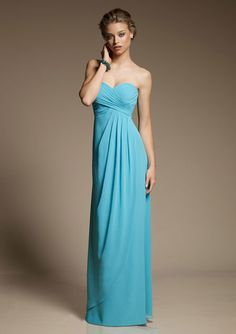 My favorite bridesmaid dress. Azure is the color that I like best.