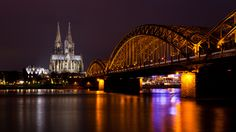 Cologne Cathedral Hohenzollern Bridge Wallpaper Germany World Wallpapers) – Wallpapers HD Bridge Wallpaper, Night Shot, Throughout The World, Hd Desktop, Sydney Harbour Bridge, Cologne, Germany, Architecture, Cathedral