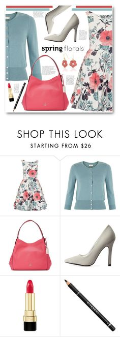 """""""QUIZ Floral Skater Dress"""" by brendariley-1 ❤ liked on Polyvore featuring Quiz, Monsoon, Coach, Charlotte Russe, Dolce&Gabbana, Givenchy, Bling Jewelry, quiz, skaterdress and floraldress"""