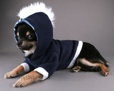 Dog clothes Navy Blue and White Fur Mohawk by PetitDogApparel, $28.00
