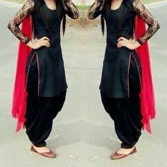 Black and red punjabi dress                                                                                                                                                                                 More