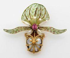 Art Nouveau - Georges Fouquet - Broche Orchidée - vers 1900