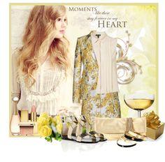 """Stella Mccartney Citrus Floral"" by biljana-miric-ex-tomic ❤ liked on Polyvore"