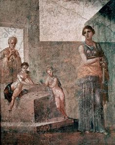 akg-images - Greek school. Medea about to murder her children. Fresque from Pompei (1.20 × 0.97 m). Naples, national museum of archeology. Personalities: MEDEA. Location: NATIONAL MUSEUM OF ARCHAEOLOGY