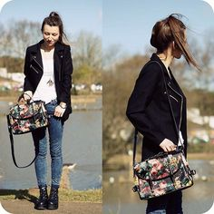 Get this look: http://lb.nu/look/5982987  More looks by Agata P: http://lb.nu/agatap  Items in this look:  Floral Bag