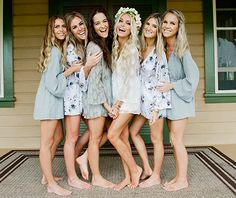 show me your mumu wedding collection: getting ready, bridesmaids, and wedding dresses.