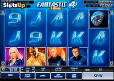 Spend time with superheroes and win the 100,000-coin jackpot! There are 5 reels and 50 pay lines in the cool Fantastic Four 50 Lines free slot by Playtech. Meet Human Torch, Invisible Woman, The Thing and Mr. Fantastic to win amazing prizes using Wild and Scatter icons, free spins and 3 possible progressive jackpot. Save the Earth at www.SlotsUp.com