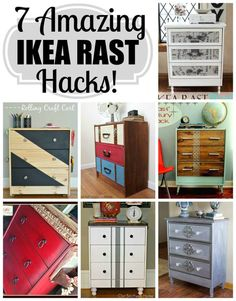 7 Ikea Rast Hack to inspire you including a rolling craft cart!