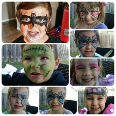 Always a fun day at the office when i get to paint lil cuties like these kiddos! :) #sweetartscreations #facepaint @ambersweetarts