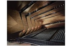Project: Festival Hall of the Tiroler Festspiele Erl Architect: Delugan Meissl Associated Architects Location: Erl, Austria Auditorium Design, Auditorium Chairs, Theater Architecture, Amazing Architecture, Art And Architecture, Concert Hall Architecture, Auditorium Architecture, Commercial Architecture, Flur Design