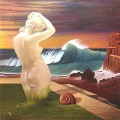 Nascita di Venere Birth of Venus Olio su tela © copyright Felice Pedretti, all rights reserved