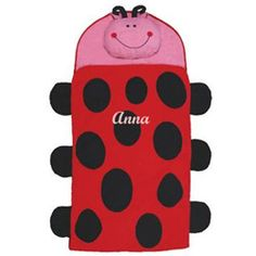 Personalized Ladybug Sleeping Bag - Your little one will love cozying up in our soft and cuddly Ladybug Sleeping Bag during nap time!