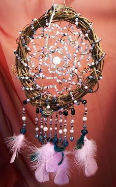 love the bead work on this dream catcher