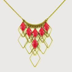 Mon bijou facile: Tutoriel collier Plastron losanges