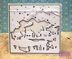 Crafter's Companion: Die'sire Create-A-Card Christmas Village; Shimmering Cardstock  #crafterscompanion