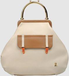 Roberta Di Camerino Beige Large Leather Bag