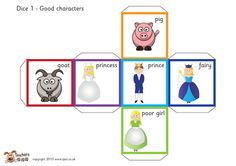 Teacher's Pet Displays » Fairy tale story telling dice (with words) » FREE downloadable EYFS, KS1, KS2 classroom display and teaching aid resources