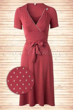 Blutsgeschwister Glazy Glade Polkadot A line dress 106 79 13740 20150123 Vintage Outfits, Retro Outfits, Vintage Dresses, Cool Outfits, Vintage Fashion, 1940s Tea Dress, Retro Dress, Estilo Pin Up, Vintage Mode