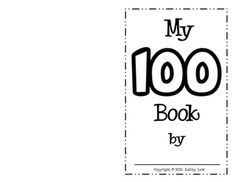 100th day book--free printable