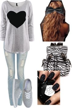 """high school outfit"" by delaney-ii ❤ liked on Polyvore"