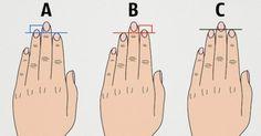 Voici ce que vos doigts disent sur vous!