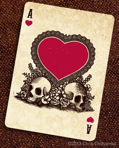 Day of the Dead inspired playing cards by Chris Ovdiyenko - Google Search