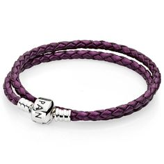 c68e08750 $30 PANDORA Purple Double Braided Leather Bracelet Pandora Rings, Pandora  Bracelets, Pandora Jewelry,