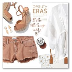 """Brownish White"" by maheanani ❤ liked on Polyvore featuring RVCA, Schutz, Majorica, Marc Jacobs and Gentryportofino"