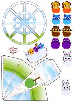 Printable Box, Baby Shawer, Paper Cake, Kawaii Stickers, Dragon Ball Z, Lol, Origami, Stencils, Clip Art