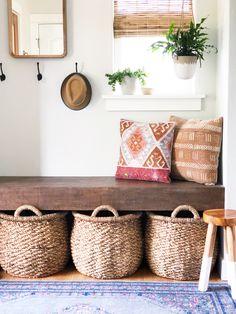 A Cookie-Cutter, Boring Basic House Is Successfully De-Beiged — House Call Entryway Furniture: Do No Home Interior, Interior Decorating, Scandinavian Interior, Flur Design, Diy Home Decor, Room Decor, Entry Way Design, Deco Design, Interiores Design