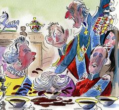 Caricatures: Royal slapstick in David Walliams's charity children's book has been branded ...