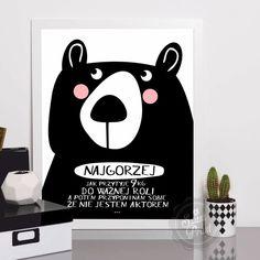 Wombat, Motto, Funny Texts, Free Printables, Panda, Photo Booths, Humor, Motivation, Wall Art
