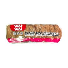 Buy Wai Wai Brown Rice Vermicelli online from Asia Market. Called 'bihon', this variety adds brown rice essence to the regular rice vermicelli mix. Asian Noodles, Soba Noodles, White Rice, Brown Rice, Lou Douillon, Types Of Noodles, Rice Vermicelli, Buckwheat, A Food
