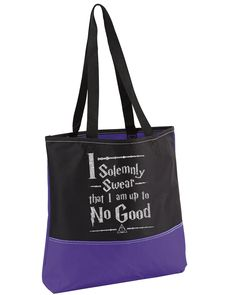Harry Potter Bag,Silver Glitter,Heavy tote bag,HP Bag,I Solemnly Swear Tote Bag,Harry Potter,I Solemnly Swear Tote,Convention Tote