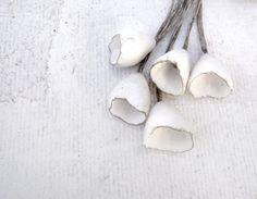 Artisan Ceramic Porcelain Beads pods