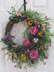 Image result for all natural fresh spring wild flower wreath