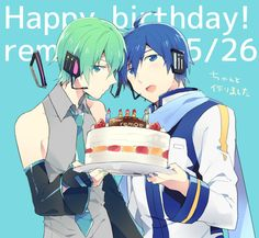 KAITO y MIKUO Creds by しなお @Pixiv
