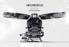 Helivehicle Emergency Helicopter has been designed to help patients to receive emergency medical service immediately.