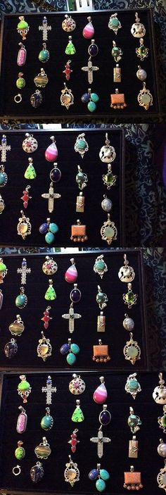 Pendants and Lockets 45079: 24 Pendants Sterling Silver 925 And Various Gemstones New Excellent -> BUY IT NOW ONLY: $135 on eBay!