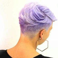 Lavender undercut