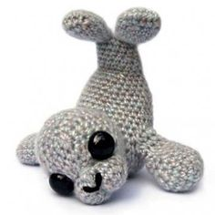 Sable the Seal amigurumi pattern by Patchwork Moose (Kate E Hancock)